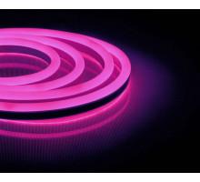 Неоновый шнур, розовое свечение, односторонний, 50м