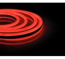 Неоновый шнур, красное свечение, односторонний, 50м
