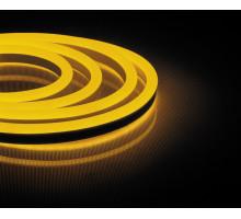 Неоновый шнур, желтое свечение, двухсторонний, 50м
