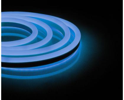 Неоновый шнур, синее свечение, двухсторонний, 50м