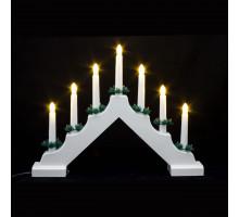 """Светодиодная гирлянда """"Свечи"""" на подставке"""