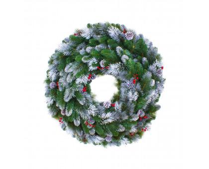 Венок рождественский праздничный, D90см