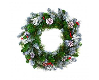 Венок рождественский праздничный, D60см
