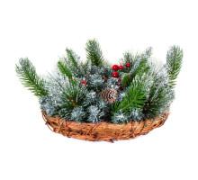 Корзина хвойная рождественская, 30см