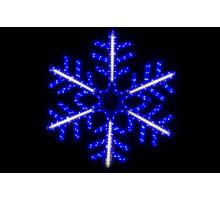 """Фигура """"Снежинка"""", сине-белая, бегущий свет, 70см"""