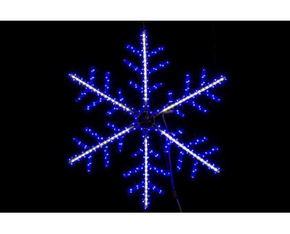 """Фигура """"Снежинка"""", сине-белая, бегущий свет, 100см"""