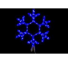 """Фигура """"Снежинка"""", синяя, мерцающие светодиоды, 40см"""