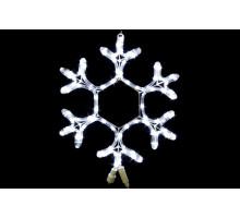 """Фигура """"Снежинка"""", белая, мерцающие светодиоды, 40см"""
