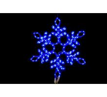 """Фигура """"Снежинка"""", синяя, мерцающие диоды, 57см"""