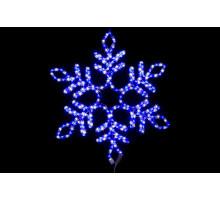 """Фигура """"Снежинка"""", синяя-белая, 57см"""