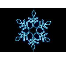 """Фигура """"Снежинка"""", разноцветное свечение, 57см"""