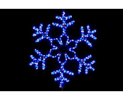 """Фигура """"Снежинка"""", синяя-белая, 60см"""