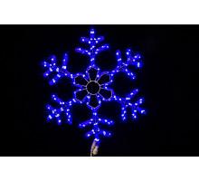 """Фигура """"Снежинка"""", синяя, мерцающие диоды, 60см"""