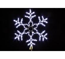 """Фигура """"Снежинка"""", белая, мерцающие диоды, 60см"""