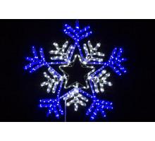 """Фигура """"Снежинка"""", сине-белая, мерцающие диоды, 65см"""