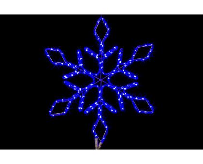 """Фигура """"Снежинка"""", синяя, мерцающие диоды, 67см"""