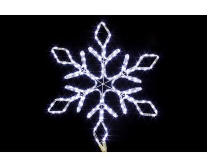 """Фигура """"Снежинка"""", белая, мерцающие диоды, 67см"""