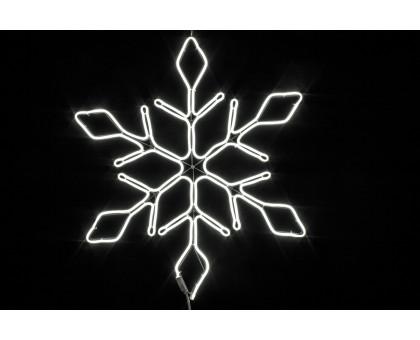 """Фигура """"Снежинка"""", статичное неоновое свечение, 67см"""