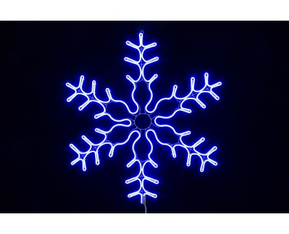 """Фигура """"Снежинка"""", статичное неоновое свечение, 86см"""