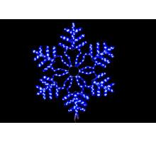 """Фигура """"Снежинка"""", синяя, мерцающие диоды, 86см"""