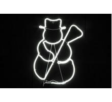 """Неоновая фигура """"Снеговик с метлой"""", 55см"""
