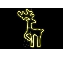 Неоновая фигура оленя, 80см