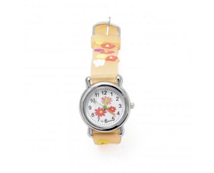 Детские кварцевые наручные часы на ремешке для девочек