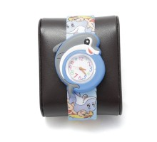 Детские наручные часы ДЕЛЬФИН с гибким браслетом