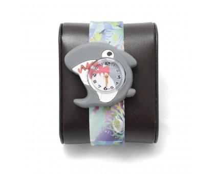 Детские наручные часы АКУЛА с гибким браслетом