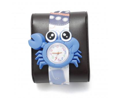 Детские наручные часы КРАБИК с гибким браслетом