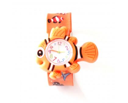 Детские часы РЫБКА для детей младшего возраста на гибком браслете