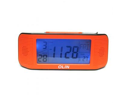 Настольные электронные часы будильник с термометром