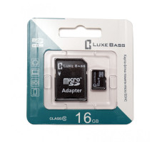 "Карта ""Luxe Bass"" micro SDHC, 16 Гб"