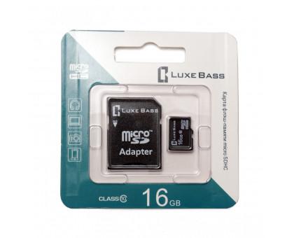 "Карта ""Luxe Bass"" micro SDHC, 16 Гб"