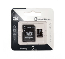 "Карта ""Luxe Bass"" micro SDHC, 2 Гб"