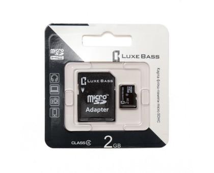 "Карта ""Luxe Bass"" micro SDHC, 2 Гб"