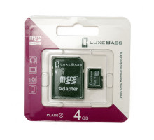"Карта ""Luxe Bass"" micro SDHC, 4 Гб"