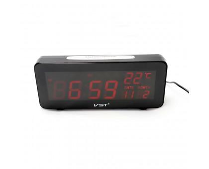 Настольные электронные часы VST, календарь, термометр. Модель 763W