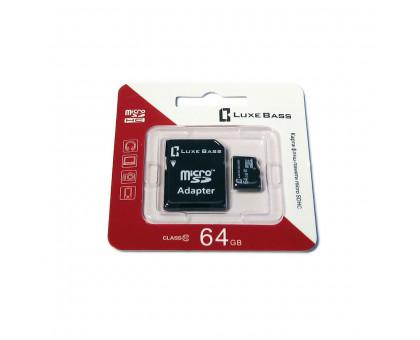 "Карта ""Luxe Bass"" micro SDHC, 64 Гб"