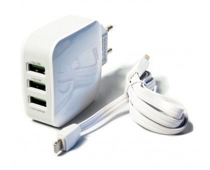 "Сетевое  зарядное устройство ""LDNIO"" с тремя USB выходами, 5V/3х3400мА"
