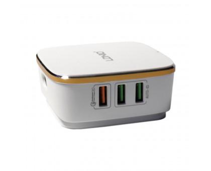 Сетевое зарядное устройство с шестью USB выходами, 5V/6х7000мА