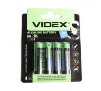 Батарейка VIDEX АА. Алкалиновая. Размер LR-6