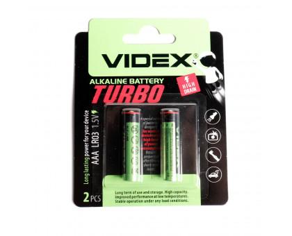 Батарейка VIDEX ААА. Алкалиновая. Размер LR-03