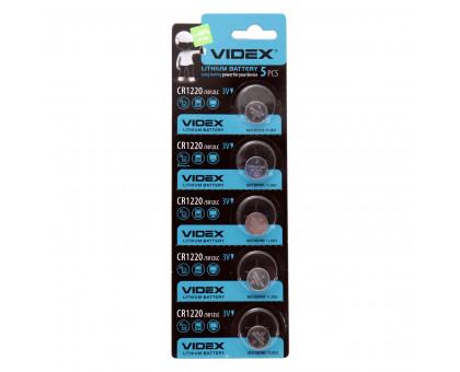 Литиевая батарейка таблетка VIDEX CR1220, 3V