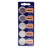 Литиевая батарейка таблетка SONY CR2025, 3V