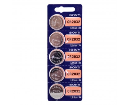 Литиевая батарейка таблетка SONY CR2032, 3V