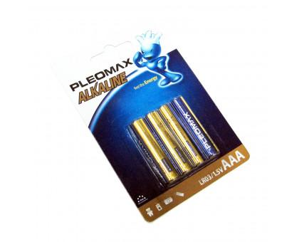 "Батарейка алкалиновая ""Pleomax"" ААА. Размер LR-03"