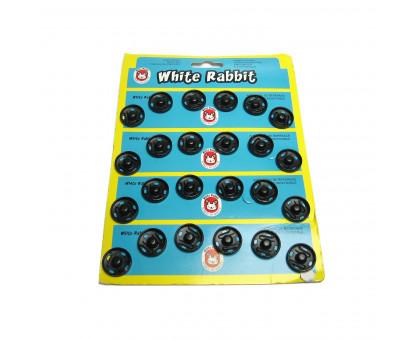 Металлическая кнопка для одежды White Rabbit, 17мм