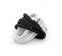Плетенная эластичная тесьма черная и белая, 10м