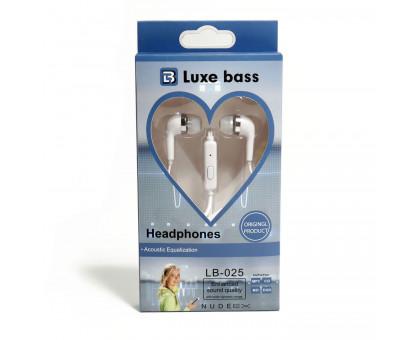 """Наушники вставные """"Luxe Bass"""" с гарнитурой, LB-025"""